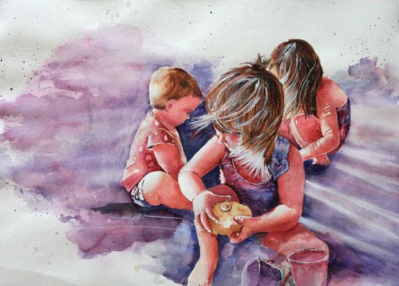 watercolor-semenick-beach-girls