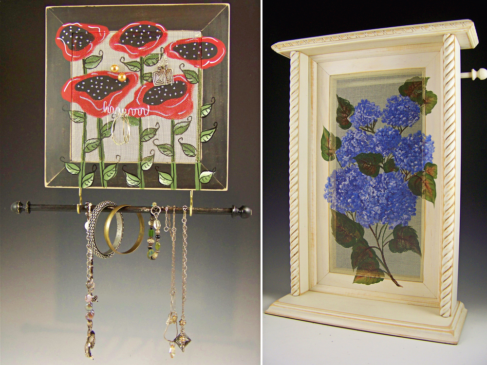 Barbara and David Downey - Poppies Showing Earrings and Jewelry