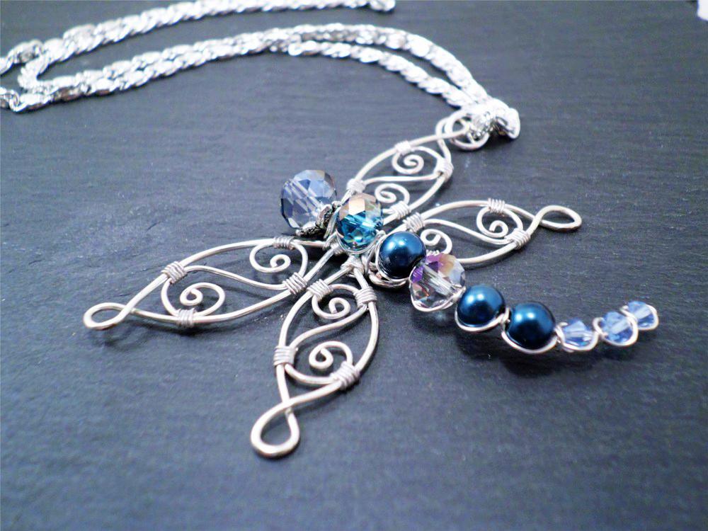 Michelle Maddux - Stylized Dragonfly Pendant